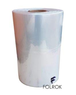 Folia poliolefina termokurczliwa 200 mm / 15 mikronów PÓŁRĘKAW