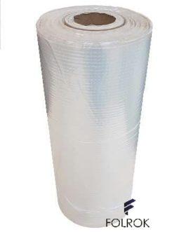 Folia poliolefina termokurczliwa 450 mm / 15 mikronów PÓŁRĘKAW perforacja na ciepło